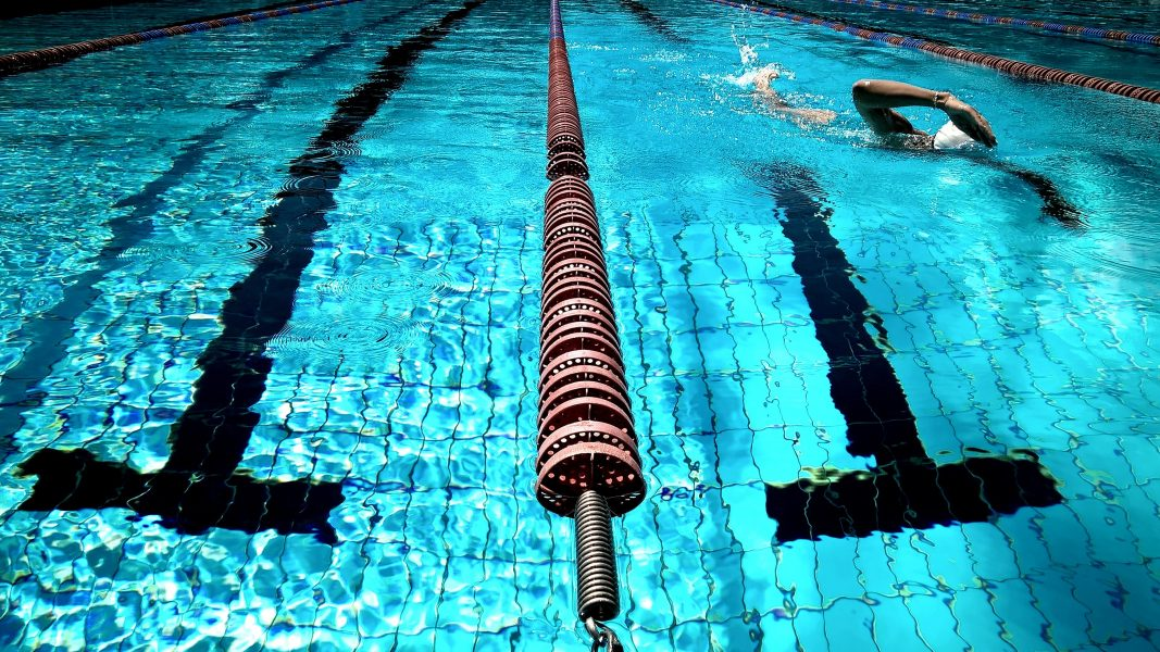 A stock image of a swimming pool lane