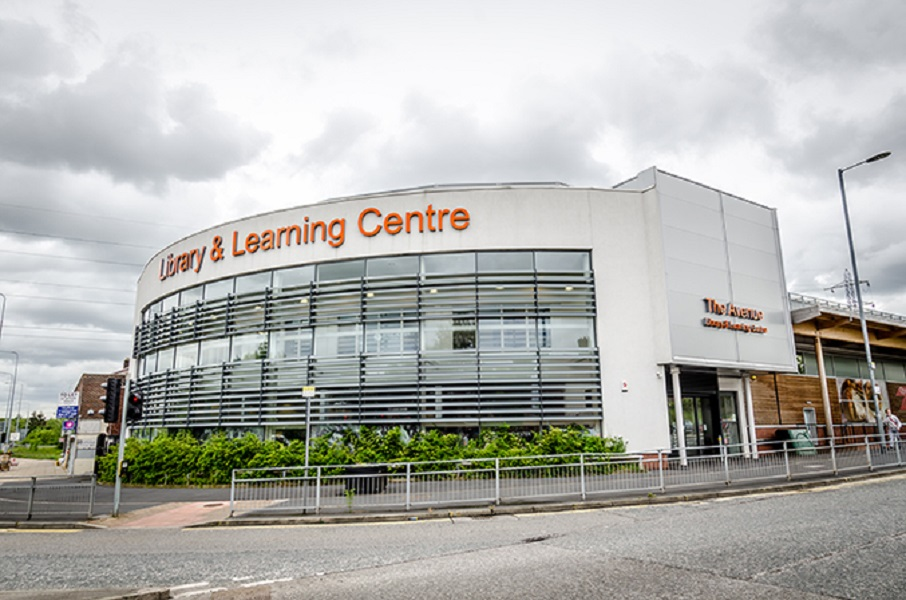The outside of the Avenue and Learning Centre in Blackley