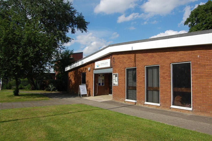 Outside of Burnage Library and Activity Hub