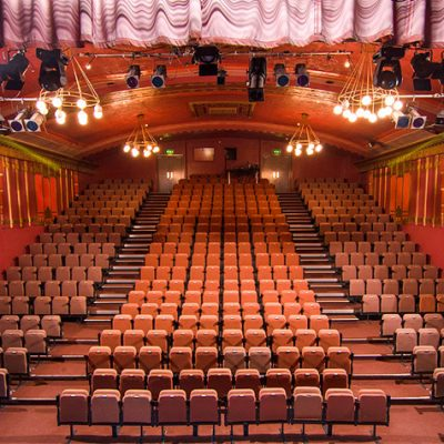 An empty theatre from the stage