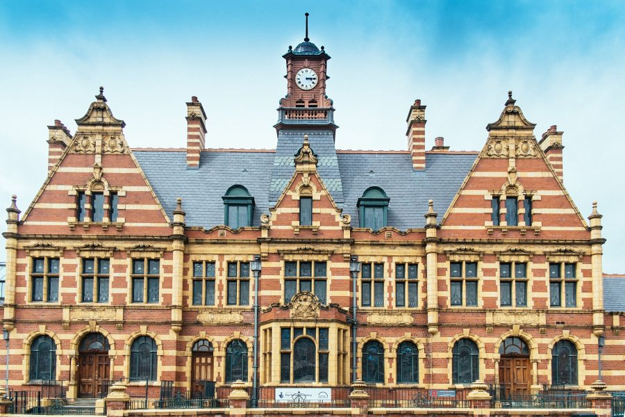 Outside of Victoria Baths on a clear day