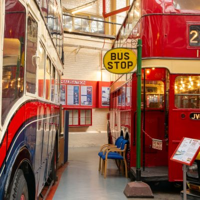 Old buses at the Museum of Transport