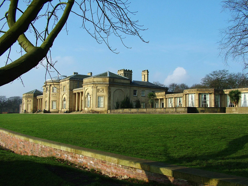 A view of Heaton Park's Temple on a clear day