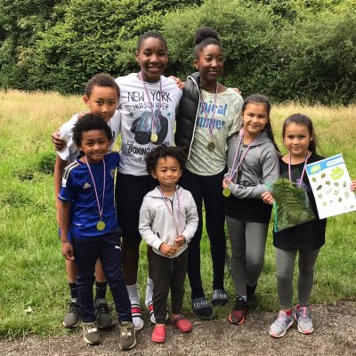Children on the Nature Activity Trail in Blackley Forest