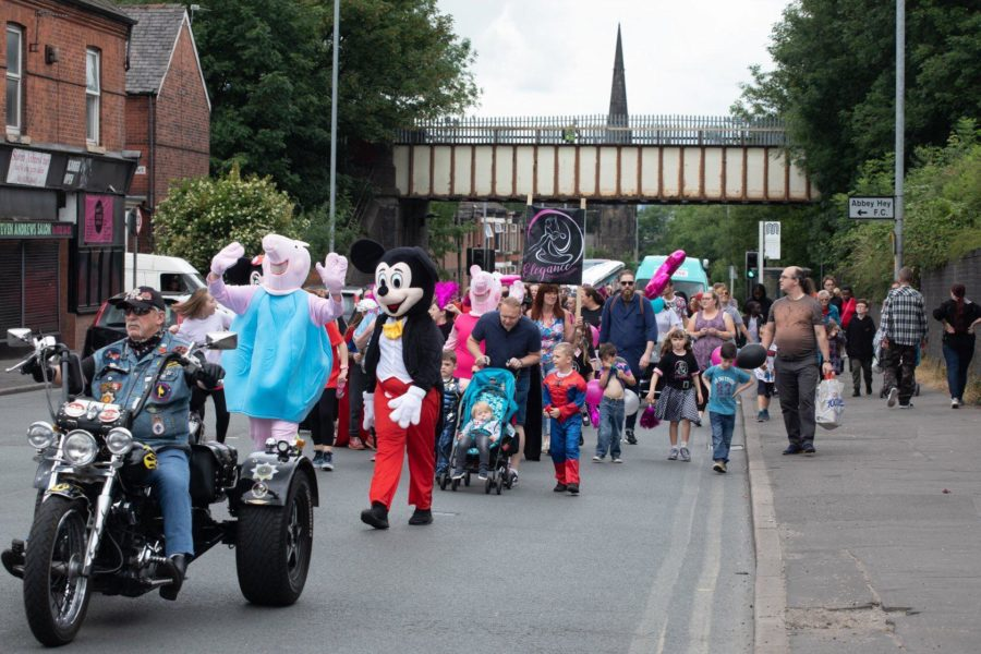 The people of Gorton take to the streets for the Gorton Carnival parade.