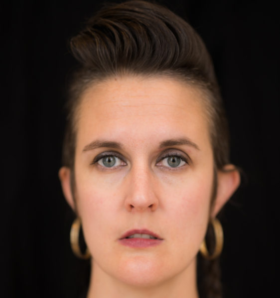 A close up of poet/ writer Kimberly Campanello