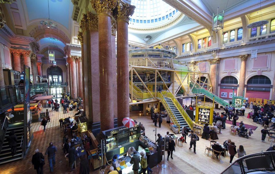 Inside the Royal Exchange Theatre.