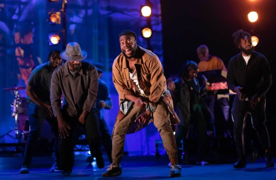 Performer Fehinti Balogun dances centre stage in Can I Live?